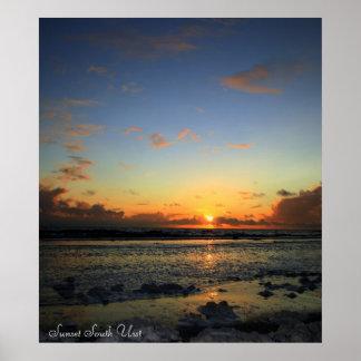 sunsetgarrynamonie, Sunset South Uist Posters