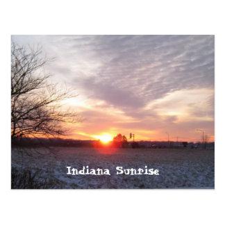 sunsetindiana, salida del sol de Indiana Tarjetas Postales