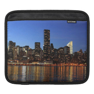 Sunseting on the New York  City Skyline Sleeve For iPads