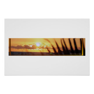 sunseting santa barbara poster