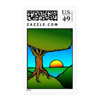 SunSetRise1 Postage Stamp