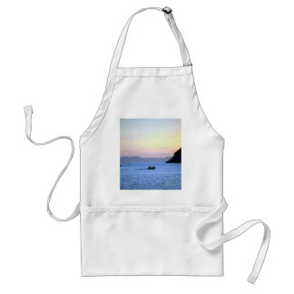 Sunset's afterglow, small boat on Sea of Cortez, M Adult Apron