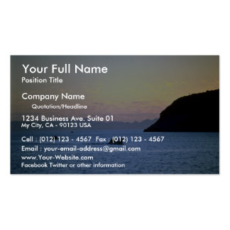 Sunset's afterglow, small boat on Sea of Cortez, M Business Card Template