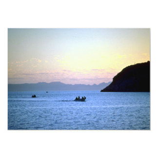 Sunset's afterglow, small boat on Sea of Cortez, M Custom Announcements