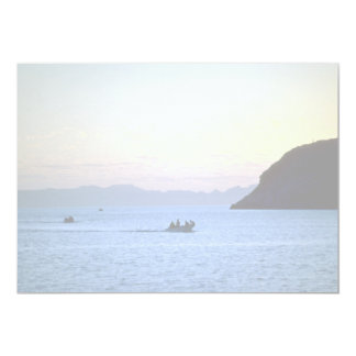 Sunset's afterglow, small boat on Sea of Cortez, M Announcement