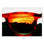 Sunsets and Fire Greeting Card