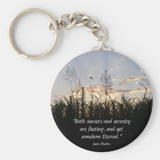 Sunsets and Serenity Basic Round Button Keychain