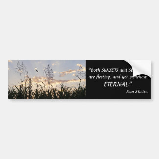Sunsets and Serenity Car Bumper Sticker