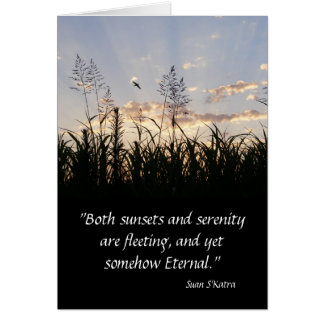 Sunsets and Serenity Greeting Card