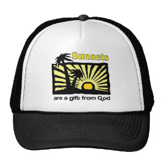 Sunsets are a gift from God Trucker Hat