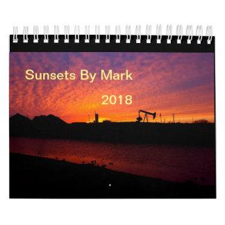 Sunsets By Mark 2018 Calendar