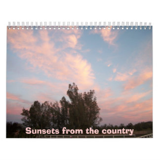 Sunsets from the country calendar