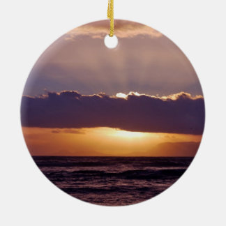 Sunsets in The Cape South Africa Double-Sided Ceramic Round Christmas Ornament