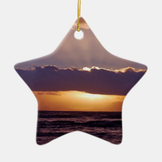 Sunsets in The Cape South Africa Double-Sided Star Ceramic Christmas Ornament