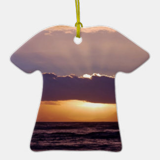 Sunsets in The Cape South Africa Double-Sided T-Shirt Ceramic Christmas Ornament