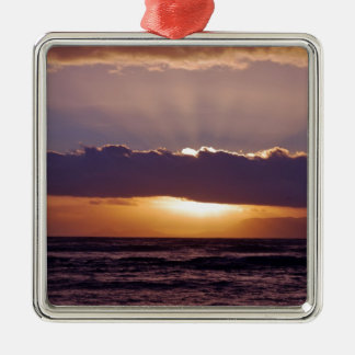 Sunsets in The Cape South Africa Square Metal Christmas Ornament