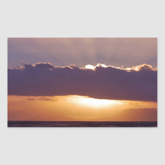 Sunsets in The Cape South Africa Rectangle Sticker