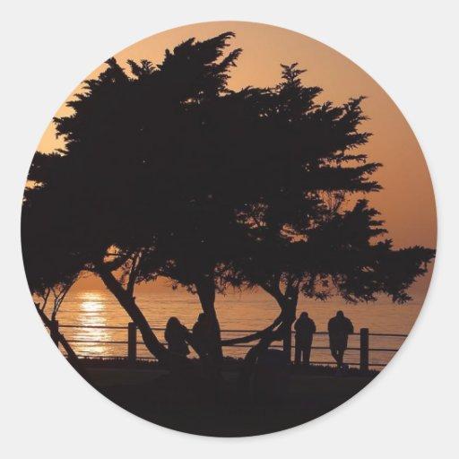 Sunsets La Jolla Classic Round Sticker