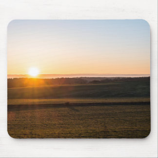 Sunsets morning mouse pad