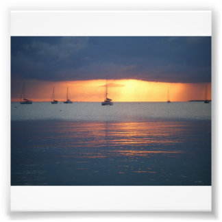 Sunsets on the Cay Art Photo