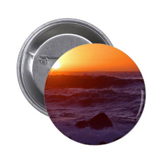 Sunsets Over Beach 2 Inch Round Button