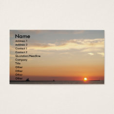 Sunsets, Sailboats And Lighthouse Business Card at Zazzle