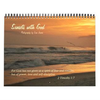 Sunsets with God Wall Calendar