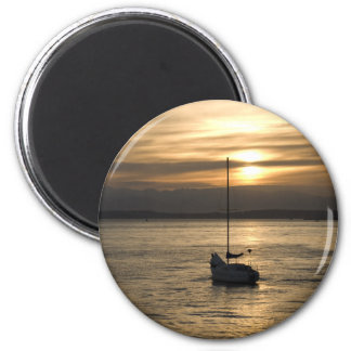SunsetSailboat051709 Refrigerator Magnet