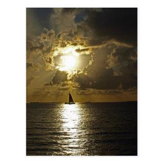 SunsetSailboat Postcard