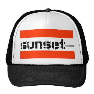 sunsettext trucker hat