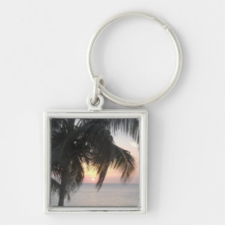 Sunsetting Doctor's Cave, Montego Bay, Jamaica Keychain