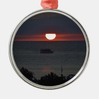 Sunsetting sobre el lago Michigan Ornatos