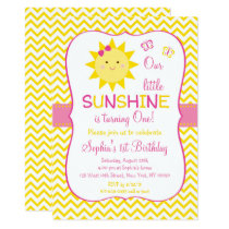 Sunshine 1st Birthday Invitation