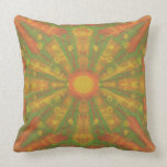 """""""Sunshine"""" abstract pattern in orange and yelllow Throw Pillow"""
