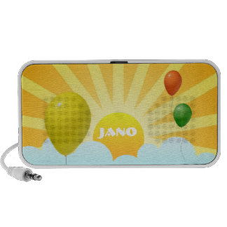 Sunshine and Balloons With Custom Name Portable Speaker