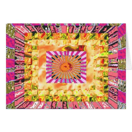 Sunshine and Chakra Collage- Artistic Presentation Card