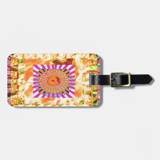 Sunshine and Chakra Collage- Artistic Presentation Tag For Luggage