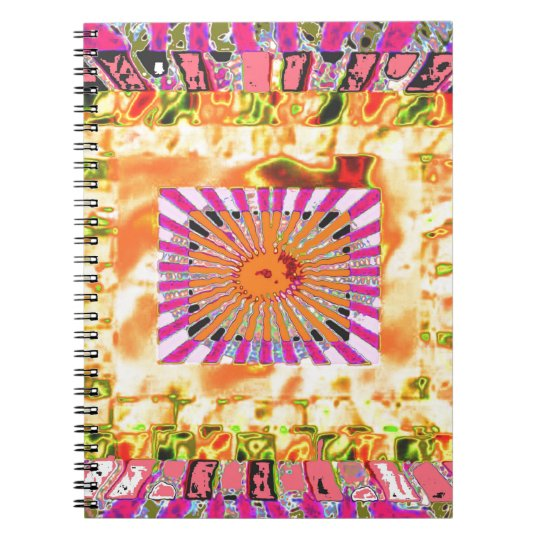 Sunshine and Chakra Collage- Artistic Presentation Notebook