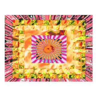 Sunshine and Chakra Collage- Artistic Presentation Postcard