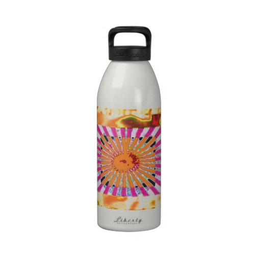 Sunshine and Chakra Collage- Artistic Presentation Reusable Water Bottle
