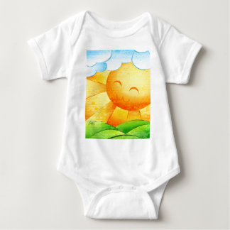 Sunshine and Clouds Baby Bodysuit