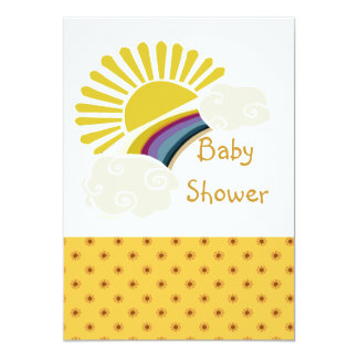 Sunshine and Clouds Baby Shower Card