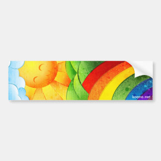 Sunshine and Clouds Bumper Sticker