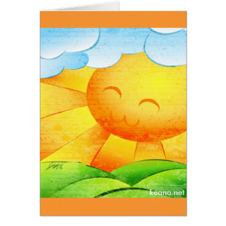 Sunshine and Clouds Card