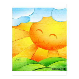 Sunshine and Clouds Postcard