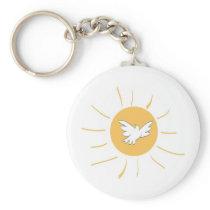 Sunshine and Dove Keychain