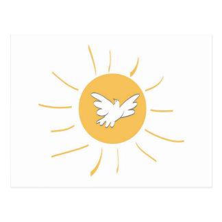 Sunshine and Dove Postcard