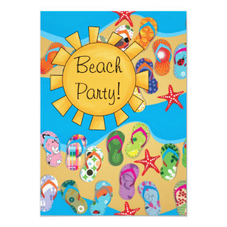 Sunshine and Flip Flops Beach Party Card