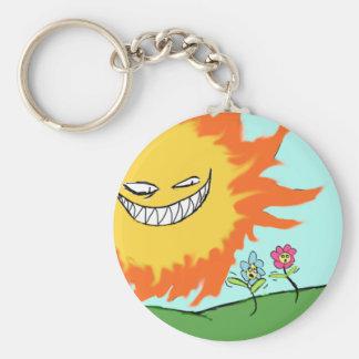 Sunshine and flowers keychain
