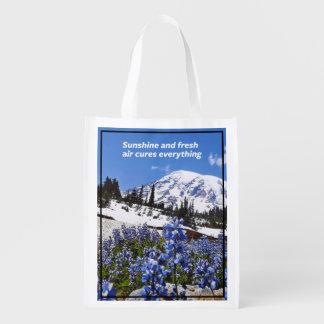 Sunshine and Fresh Air Grocery Bag